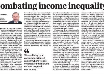 Combating income inequality – Josef Bonnici